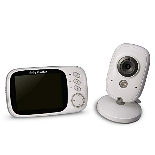 Babymonitor, 3,2-inch LCD-kleurenmonitor met bewakingscamera, ondersteunt tweeweg-audio, temperatuurbewaking, nachtzicht, VOX-functie.