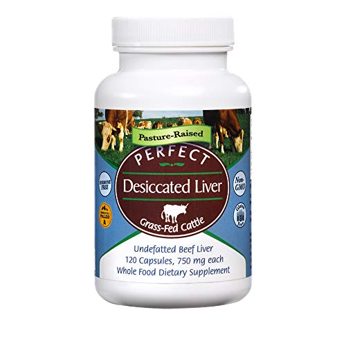 Perfect Supplements – Perfect Desiccated Liver – 120 Capsules - Undefatted Beef Liver – Natural Source of Protein, Iron, Vitamins A & B