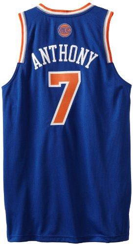 NBA New York Knicks Blue Swingman Jersey Carmelo Anthony #7, X-Large