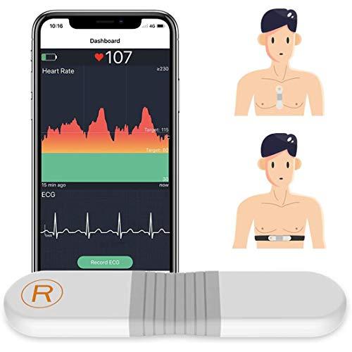 ViATOM Herzfrequenz Brustgurt, Herzfrequenz-Sensor, Bluetooth ANT+, EKG-Monitor mit Pads für Übungen, 30 Min. Wellenform-Aufzeichnung, Drahtlos Tragbar, mit Vibrationsalarm