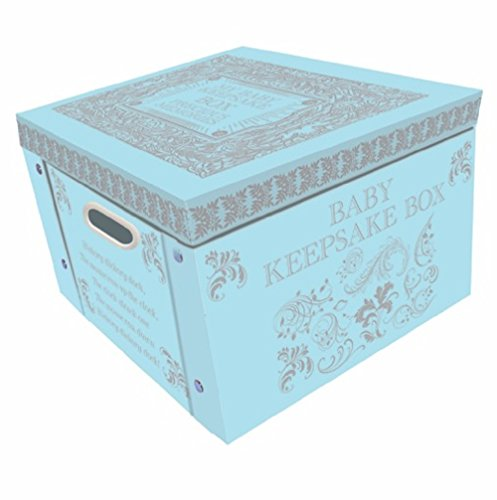 Robert Frederick Large Collapsible Memory Storage Box | Blue My Baby Keepsake Memory Box | The Boxes for Any Newborn Baby Boy or Baby Girl