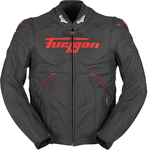 Furygan Raptor Evo Motorrad Lederjacke Schwarz/Rot S