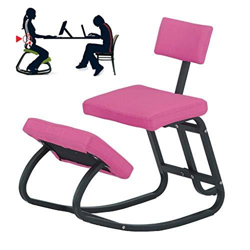 LEILEI Ergonomischer Kniestuhl,Kniender Bürostuhl Perfekt,zur Körperformung und zum Stressabbau,Kniehocker für Büro & Zuhause,Pink