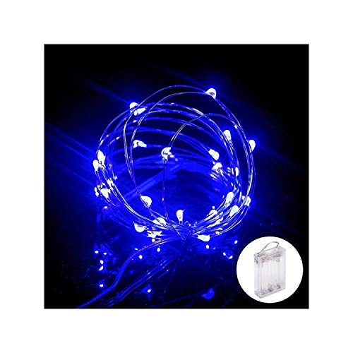 XINKAITE Led String Lights Waterproof 32.8ft led Fairy Lights Battery Operated for Wedding, Home, Garden, Party, Christmas Decoration, Blue