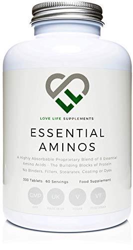 Love Life Supplements - EAA Pulver, Essentielle Aminosäuren, 300 Tabletten