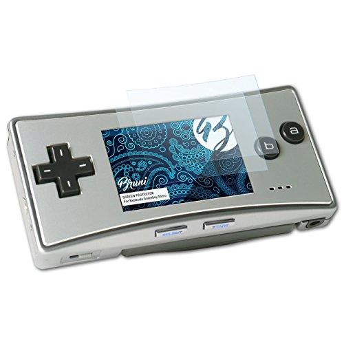Bruni Protecteur d'écran pour Nintendo Gameboy Micro Film Protecteur, cristal clair Écran protecteur (2X)