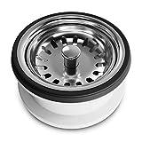 AQUADE 6256 - Filtro para fregadero de cocina (70 mm de diámetro, acero inoxidable)