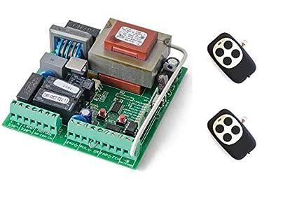 Kit Central de maniobras universal cuadro de control para motores monofasicos a 220v hasta 1000w de puerta corredera de garaje y parking, con 2 mandos a distancia.
