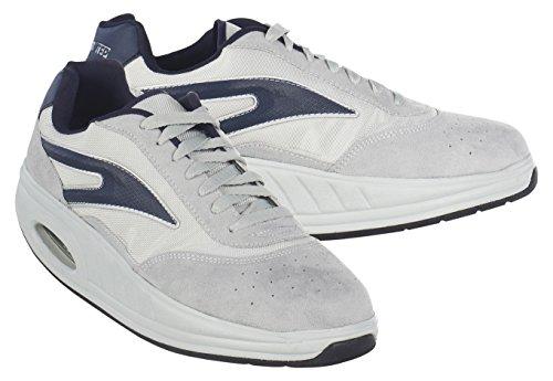 Fitness Step 050002307201086, Zapatillas tonificadoras Hombre, Gris/Azul, 44 EU
