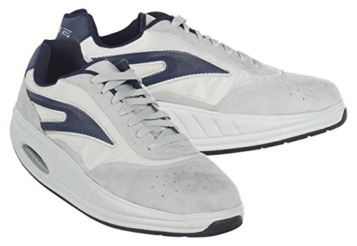 Fitness Step Casual Training - Zapatillas tonificadoras para Hombre, Color Gris/Azul, Talla 41