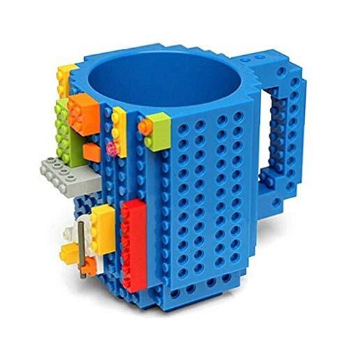 350Ml/12Oz rompecabezas creativo taza Diy bloques de construcción Lego leche taza de café construir-en el ladrillo vasos bebiendo tazas de plástico libre de Bpa