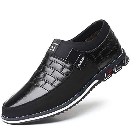 LIEBE721 Los Zapatos Casuales de Visten Zapatos versátiles Zapatos Antideslizantes de los Hombres duraderos Elegantes y cómodos Zapatos maduros