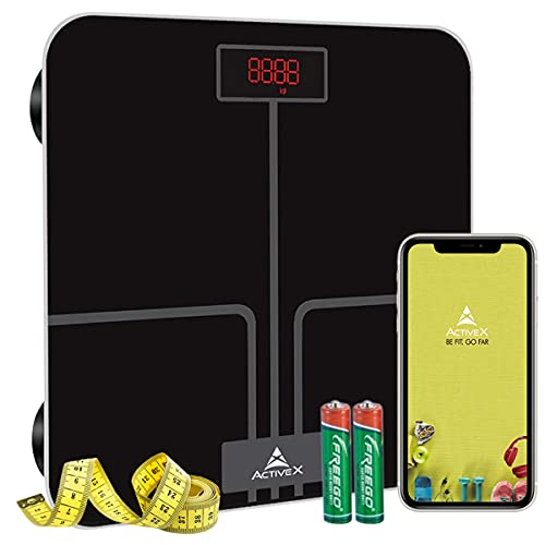 ActiveX (Australia) Ivy Plus, Digital Bathroom Scale For BMI Body Weight With Advanced Free Bluetooth ActiveX App With Measuring Tape [No Body Fat Function]…
