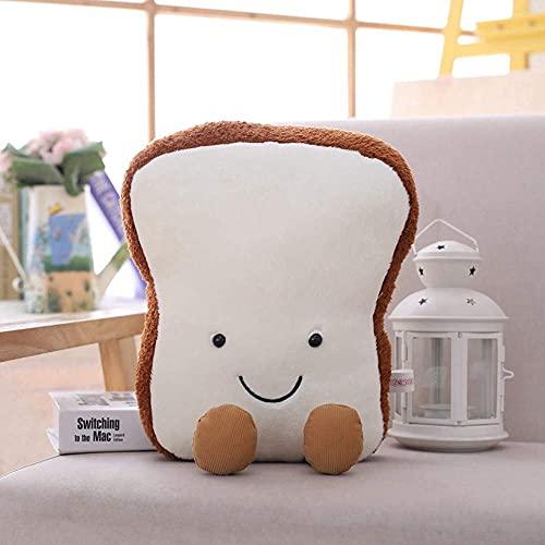 Peluche muñeca figurina juguete mascota almohada animal, creative dibujos animados Pan de peluche forma divertida almohada comida siesta almohada niños juguete cumpleaños regalo sofá decoración del ho