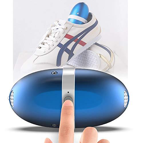 Elektrischer Schuhtrockner USB Tragbar, skischuhe trockner heizung Automatisches Timing, Schuhwärmer elektrisch, Geeignet für alle Arten von Schuhen, Blau