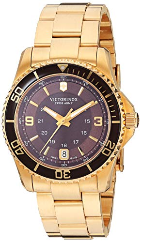 Victorinox Women's 241614 Maverick Analog Display Swiss Quartz Gold Watch