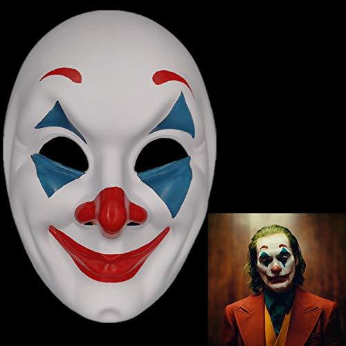 2019 Joker Mask Cosplay Movie Horror Scary Smile Evil Clown Halloween Mask-1 Pack