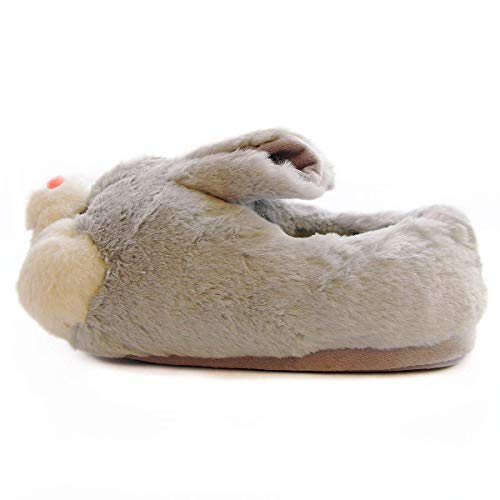 Product Image 5: Caramella Bubble Classic Bunny Slippers Cute Plush Animal Rabbit Slippers Christmas Slippers for Women Grey