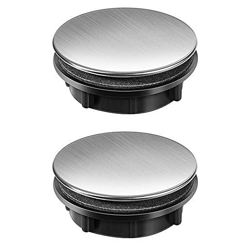 Grifo de piscina de lavado de acero inoxidable 2 unids, orificio de antorcha de agua, tapa del agujero del lavabo del baño de la cocina, el agujero de montaje es de 25-30 mm