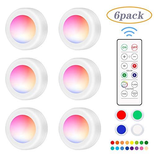 buenos comparativa Paquete de luces RGB, cambios de color debajo de las luces del gabinete, conexiones inalámbricas debajo … y opiniones de 2021