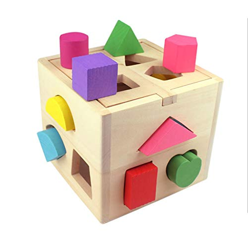 JIACUO Cubo de Madera Juguete Cubo Rompecabezas bebé Caja enchufable