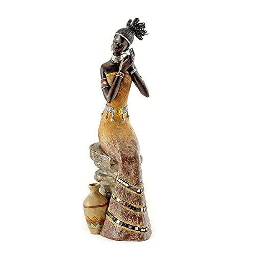 Pajoma 57537Africana Deko Massai Mujer, Resina, Altura 35,5cm