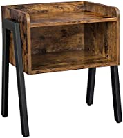 VASAGLE ALINRU Nightstand, Stackable End Table, Side Table for Small Spaces, Storage Compartment, Industrial Accent...