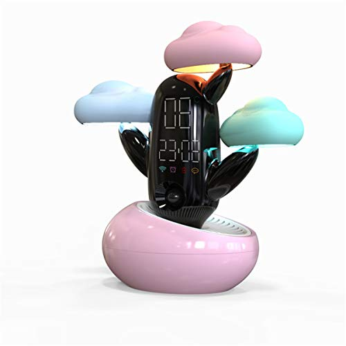 LED de luz de la noche, lámpara de mesa de noche portátil Recordatorio de voz Tiempo resplandor luz de la noche la nube de sensor inteligente en tiempo Intelligent Light Diversión alarma de precisión