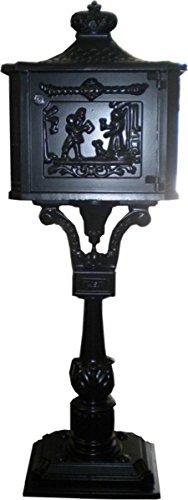 Casa Padrino Standbriefkasten Antik Jugendstil Schwarz Mod5 Briefkasten Postkasten Alu - Säulenbriefkasten