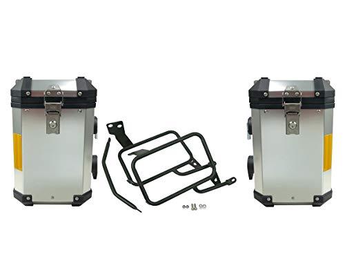 Set di valigie in alluminio di ricambio per KTM Adventure 1050 1090 1190 1290 R Super Adventure Softbag nero Adventure in acciaio inox alluminio bauletto baule baule baule valigie