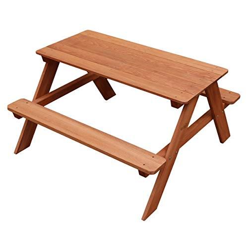 Sunny Dave - Juego de mesa y sillas para niños, madera, color marrón