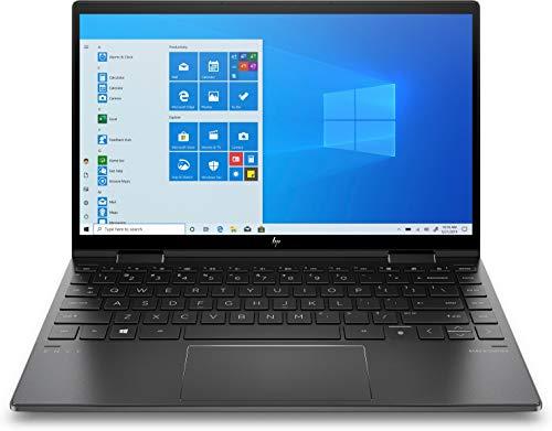 HP ENVY x360 13-ay0472ng (13,3 Zoll / Full HD Touch) 2in1 Convertible (AMD Ryzen 7 4700U, 8GB DDR4 RAM, 256GB SSD, AMD Grafik, Windows 10) schwarz, Fingerabdrucksensor