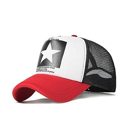 DWXWMZ Sombrero para el Sol Gorra de béisbol HombresGorras deMalla de Estrella de Cinco Puntas 8 ColoresMujeres Gorros Unisex Transpirables de Verano al Aire Libre