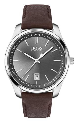 Hugo Boss Analoog Quartz Horloge voor heren met lederen band 1513726