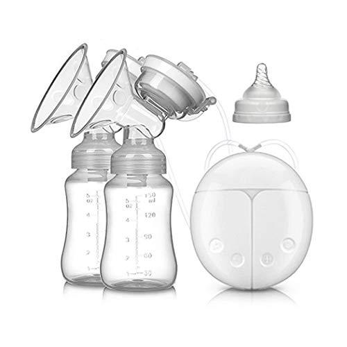 Tiralatte elettrico intelligente, pompa doppio seno BPA-Free USB Salvietta postpartum massaggio comodo e leggero automatico, bottiglia di stoccaggio del latte da 150 ml con coperchio e capezzolo