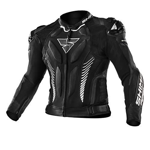 SHIMA Apex, Motorradjacke Lederkombi Motorradbekleidung Zweiteiler Motorradkombi Motorradanzug, (48-58, Schwarz), Größe 50