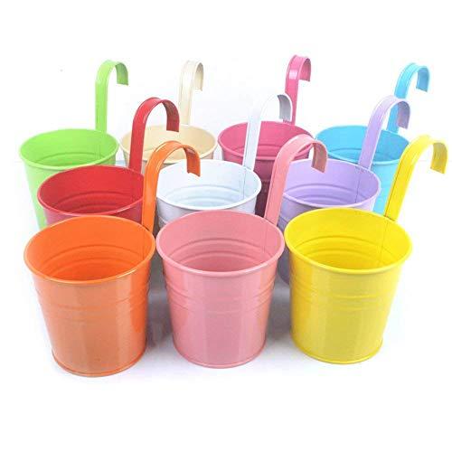 KLOOM 10 Pack Vasi da Fiori Colorati in Ferro Metallo, Portafiori, Decorazioni per Interni Ed Esterni