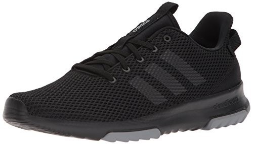 adidas Men's Cloudfoam Racer TR Sneaker, Core Black, Core Black, Grey Three Fabric, 10.5 M US