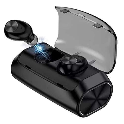 True Wireless Earbuds Bluetooth 5.0 Headphones   Sports in-Ear TWS Stereo Earphones Built-in Mini Headset   Deep Bass IPX5 Waterproof Instant Pairing 125H Battery Charging Case Earphones