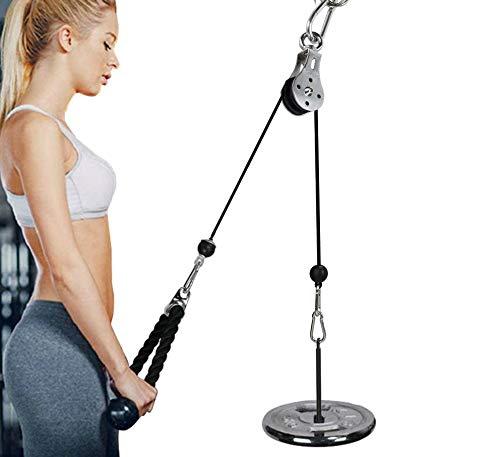 Poulie Musculation avec Corde Triceps Max Poids 20kg pour Exercice Avant Bras Epaules Deltoïdes