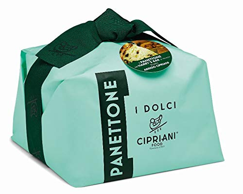 Cipriani Food Hand Wrapped All Natural Panettone Italian Cake, 2.2 Pound