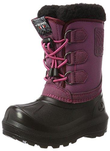 Viking Unisex-Kinder Istind Schneestiefel, Blau (Dark Pink/Black), 27 EU