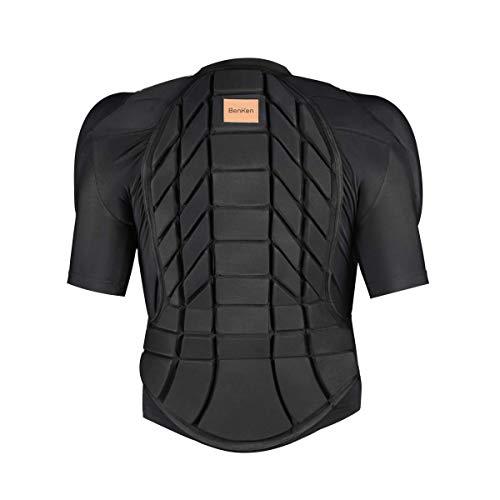 BenKen Skifahren Body Armour Outdoor Sport Anti-Kollision Kleidung, 3D Rückenschutz Snowboard-Schutzausrüstung für Skifahren und Radfahren, Kurze Ski-Body Armour, L