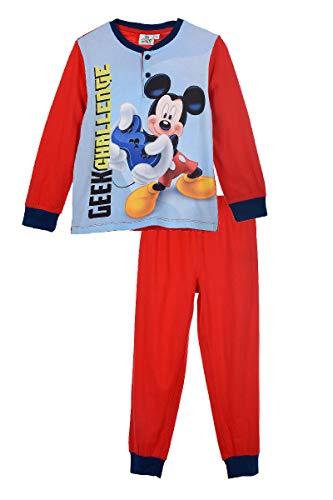 Ensemble Pyjama Tee-Shirt Manches Longue + Pantalon Mickey Rouge (8 Ans)
