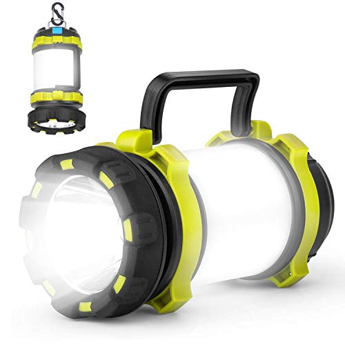 Kimimara LEDランタン 懐中電灯 高輝度 キャンプランタン usb充電式 防水 テントライト 6つ点灯モード SOS赤ラッシュライト モバイルバッテリー機能 応急 停電 キャンプ 山登り 夜釣り 緊急 非常用 携帯型