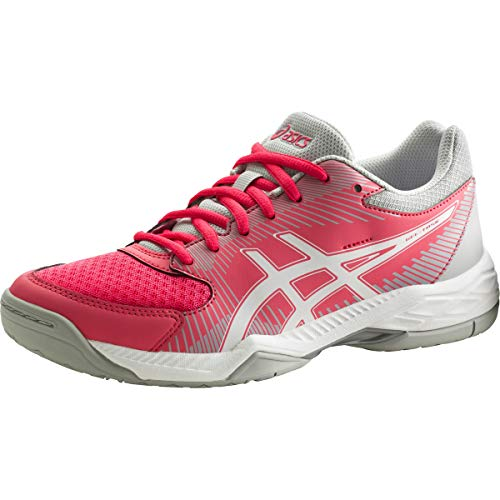 Asics Damen Gel-Task Volleyballschuhe, Rot (Rouge Red / White / Mid Grey), 42 EU