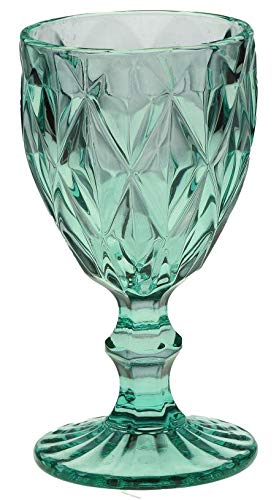 Rose e Tulipani Vintage VETRO Turquoise Diamond Glas türkis Weinglas 250 ml Unitable Glas Gläser Weingläser Eisbecher Wasserglas Longdrinkglas Wasserkrug