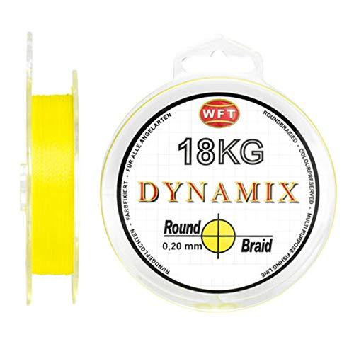 WFT Round Dynamix 300m Angelschnur geflochten rund - 0.10mm - Gelb #1D-C 106-010