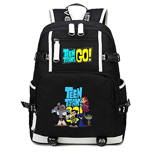 GuiSoHn Teen Titans Go Student Backpack Casual School Bag Boys Girls and Teens Daypack