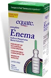 Equate Rectal Solution Enema Sodium Phosphates 2-Count, 4.5- Fluid Ounce by Equate
